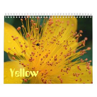 Yellow Flowers Wall Calendar