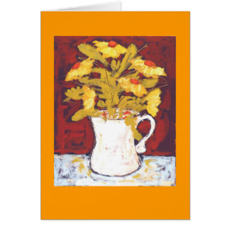 yellow flowers card