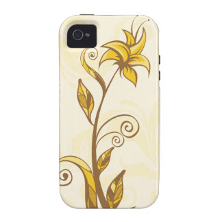 Yellow Flowers Vibe iPhone 4 Cover
