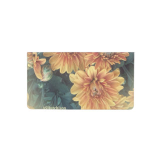 Yellow Flowers Checkbook Cover