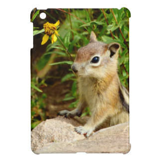 Yellow Flowers Chipmunk Cover For The iPad Mini