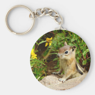 Yellow Flowers Chipmunk Keychain