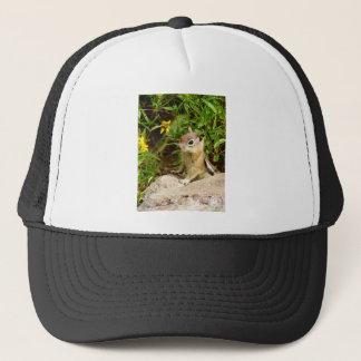 Yellow Flowers Chipmunk Trucker Hat