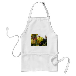 Yellow flowers closeup with water droplets adult apron