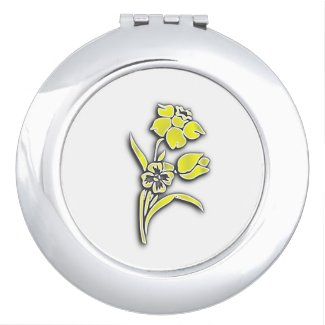 Yellow Flowers Compact Mirror