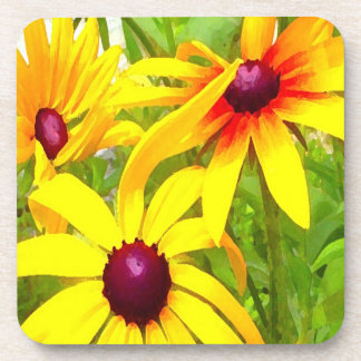 Yellow Flowers Beverage Coasters