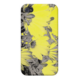 Yellow Flowers Cover For iPhone 4