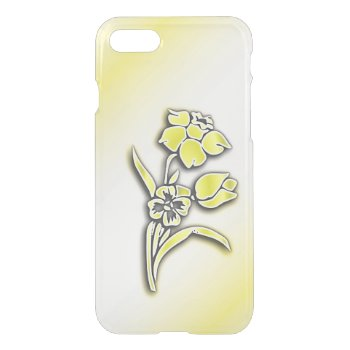 Yellow Flowers Daffodil iPhone 7 Case
