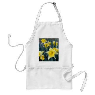 Yellow Flowers Daffodils Daffodil Flower Photo Adult Apron