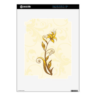 Yellow Flowers Decal For iPad 2
