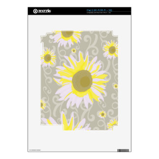 Yellow Flowers Decals For The iPad 2