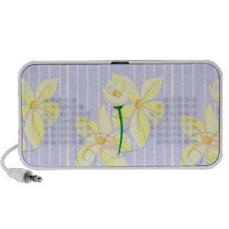 Yellow Flowers Doodle Speaker
