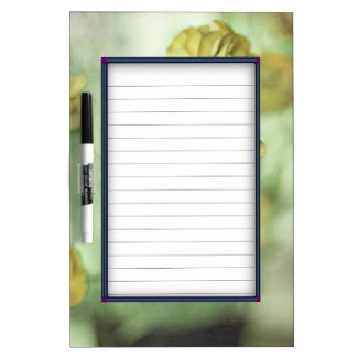 Yellow Flowers Dry Erase Whiteboards