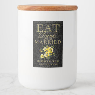 Yellow Flowers - Eat, Drink and Be Married Food Label