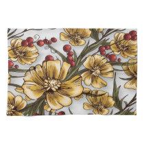 yellow flowers elegant floral print towel