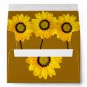 yellow flowers envelope
