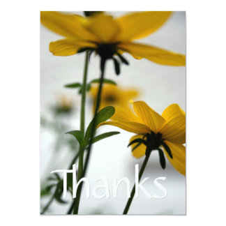 Yellow Flowers - Floral photography - Thank You Card