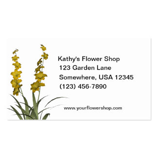 Yellow Flowers Florist Shop Double-Sided Standard Business Cards (Pack Of 100)