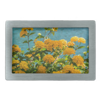 yellow flowers for good mood everyday belt buckle