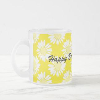Yellow Flowers - Happy Birthday Mug