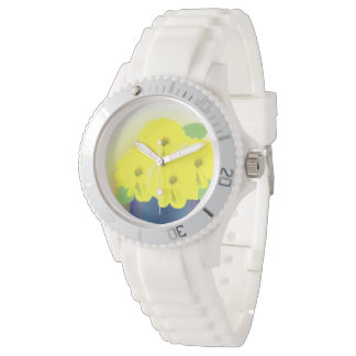 Yellow Flowers in a Pot Wristwatches