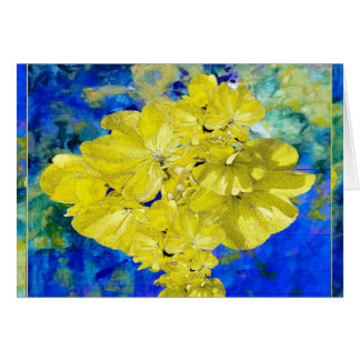 Yellow Flowers in Blue Lagoon gifts. Card