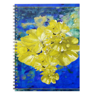 Yellow Flowers in Blue Lagoon gifts. Notebook
