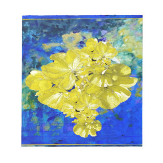 Yellow Flowers in Blue Lagoon gifts. Notepad
