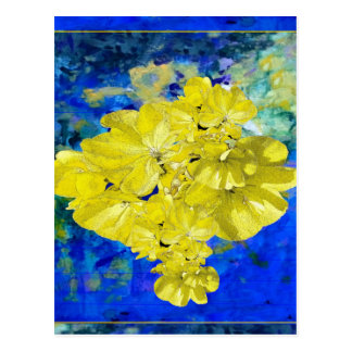 Yellow Flowers in Blue Lagoon gifts. Postcard