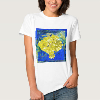 Yellow Flowers in Blue Lagoon gifts. Tee Shirt