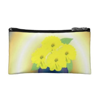Yellow Flowers in the Sunshine Cosmetic Bag