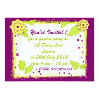 Yellow flowers - Invitation