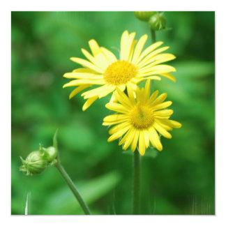 Yellow Flowers Invitations