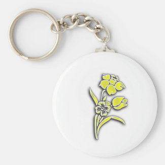 Yellow Flowers Key Chains