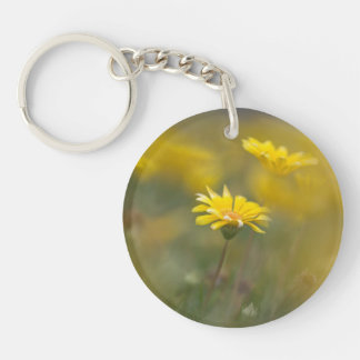 Yellow Flowers Acrylic Key Chain