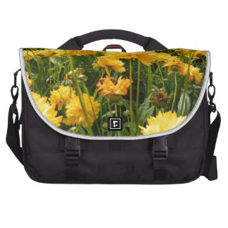 Yellow Flowers Bags For Laptop