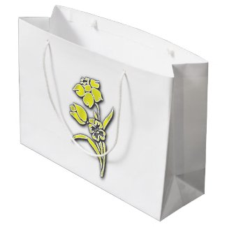 Yellow Flowers Large Gift Bag