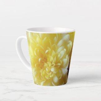 Yellow Flowers Latte Mug