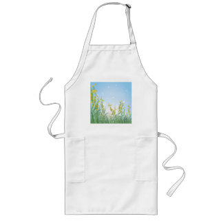 Yellow Flowers Long Apron