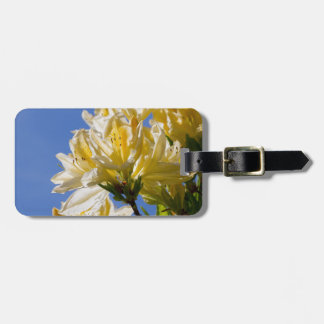 Yellow flowers tags for bags