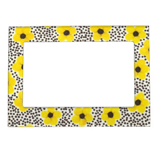 Yellow Flowers Magnetic Frame