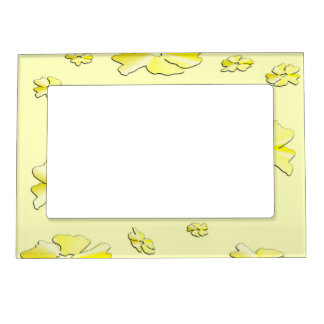 Yellow Flowers Magnetic Photo Frame