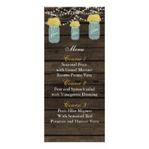 yellow flowers mason jar wedding menu cards