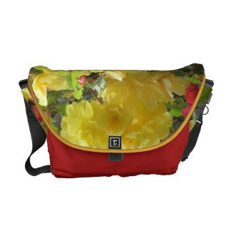 Yellow Flowers Messenger Bag