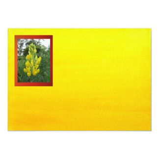 Yellow Flowers On Gradient Yellow Card
