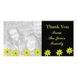 Yellow flowers photo greeting card