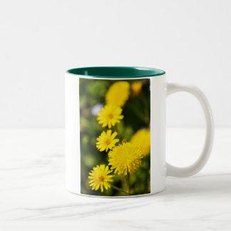 Yellow Flowers Photo Mug