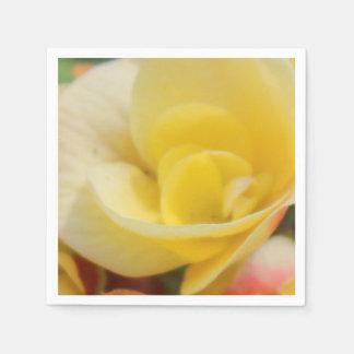 Yellow Flowers Photo Paper Napkin