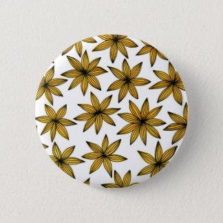 Yellow Flowers Pinback Button