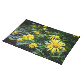 Yellow Flowers Placemat Cloth Placemat